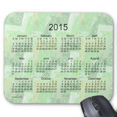 Sage Patchwork 2015 Calendar by Janz Mouse Pad