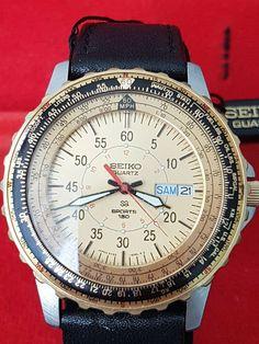 Seiko 5Y23-6150 Quartz MPH Pilot Flightmaster Sports 150 Vintage Armbanduhr Seiko, Fossil, Vintage, Quartz, Ebay, Citizen, Sports, Stuff To Buy, Watches