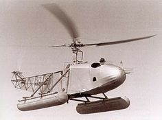 Igor Sikorsky at the controls of his VS-300 Helicopter. It was on September 14, 1939 that Sikorsky made this historic first successful helicopter flight.