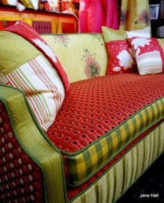 My love of beautiful fabric, pattern colour and texture inspires me every day. Combined with the unique shapes of vintage furniture, every piece is both unique and eco friendly...
