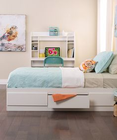 Look at this White Mate's Twin Platform Storage Bed on #zulily today!