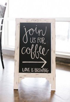 Join us for coffee - Love Is Brewing! Such a cool sign for this couple's coffee station at their winter Colorado wedding. Join us for coffee - Love Is Brewing! Such a cool sign for this couple's coffee station at their winter Colorado wedding. Coffee Bar Wedding, Brunch Wedding, Coffee Bar Party, Coffee Theme, Wedding Breakfast, Donut Bar, Wedding Signs, Our Wedding, Dream Wedding