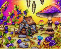 Consegui acabar esse antes da meia noite! Ufa! ❤ Desenho lindo by Klára Marková. Ameiiiii fazer este Usei lápis Staedtler aquarelável, e lápis Giotto seco. Posca branca nas pintinhas. #chameleonpensbrasil #chameleonpens #chameleons #magical #mushroom #mushrooms #staedtlermars #staedtler #giotto #stilnovo #giottostilnovo #fabercastell #kohinoor #carandache #lapisdecor #colorpencil #livrodecolorir #coloringbook #klaramarkova #carovnelahodnosti