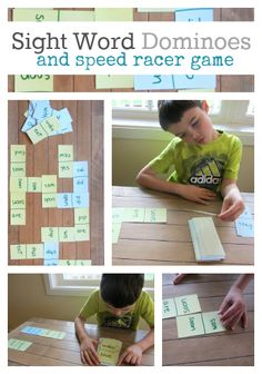 Easy Sight Word Games - great for kindergarten. Dominoes match with Sight Words. (Dolch) Make learning fun! Great for Pre-K and K Sight Word Practice, Sight Word Games, Sight Word Activities, Literacy Activities, Educational Activities, Sight Words, Teaching Reading, Kids Learning, E Mc2