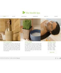 Free Website Templates, page 17 Free Website Templates, Spa, Health, Salud, Health Care, Healthy