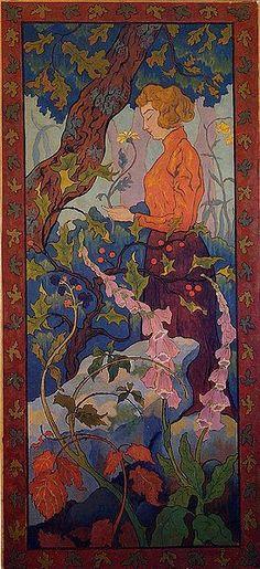 turnofthecentury:   Digitales,1899 by Paul Ranson [thanks toTHE BLUE LANTERN]