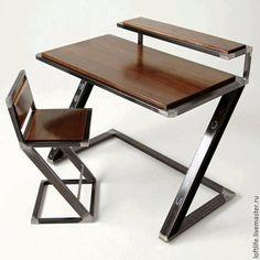 Custom Made Miterz Pen Palz Industrial Writing Desk is part of Welded furniture - Welded Furniture, Iron Furniture, Steel Furniture, Industrial Furniture, Home Furniture, Modern Furniture, Furniture Design, Furniture Ideas, Industrial Desk