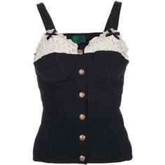 JEAN PAUL GAULTIER VINTAGE corset vest top ($350) ❤ liked on Polyvore