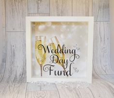 Engagement Present Wedding Money Box Frame by KreativKreationz