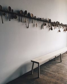 display art # Spoon it up inspiration Beachwood style benches Küchen Design, Wall Design, House Design, Interior Design, Beauty Dish, Deco Cafe, Spoon Collection, Kitchen Collection, Wood Spoon