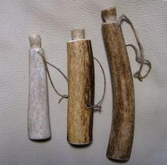 Viking needle case made of antler. $20.00, via Etsy.