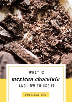If you've never tried Mexican chocolate, you're in for a treat! It's unique and features bold flavors and rustic textures that you can't get anywhere else! Types Of Chocolate, Mexican Hot Chocolate, Mexican Cooking, Mexican Food Recipes, Sweet Tamales, Hot Chocolate Cookies, Latin Food, Mexican Dishes