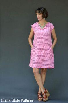 Rayon version - Leralynn Dress - by Blank Slate Patterns - Women's Shift Dress Sewing Pattern Simple Dress Pattern, Shift Dress Pattern, Pants Pattern, Clothing Patterns, Sewing Patterns, Sewing Ideas, Shirt Patterns, Dress Making Patterns, Dress Tutorials