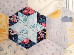 English Paper Pieced Star Hexies tutorial by Julie Zaichuk-Ryan from Button Button  | Sew Mama Sew |