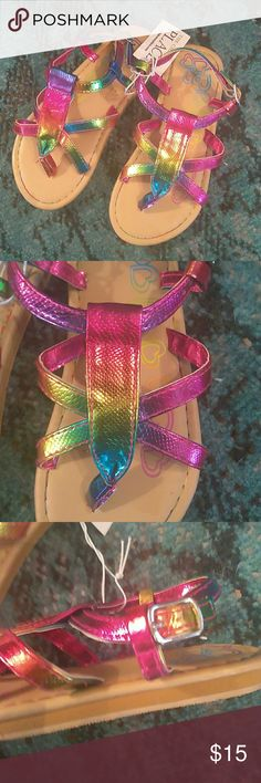 Girls Mermaid/Unicorn Holographic Colored Sandals! Girls Size 11 Youth Brand New Sandals Mermaid/Unicorn holographic colored! These are sooooooooooooo cute! Perfect for little tootsies ❤😊 Children's Place Shoes Sandals & Flip Flops