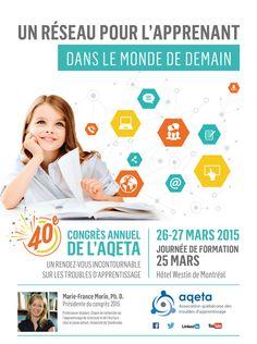 Ne manquez pas la 40e édition du congrès de l'AQETA! Le Trouble, Map, Dyslexia, Learning, Location Map, Maps