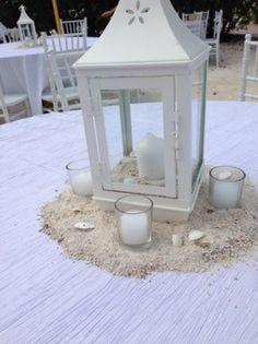 DIY Beach wedding- centerpiece