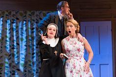 Sarah Ridgeway as Truly Kidman, Steffan Rhodri as Mr Littledick and Ellie Beaven as Mrs Littledick in A Mad World My Masters. Photo by Manuel Harlan