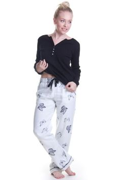 Butterfly Print Cotton Trousers