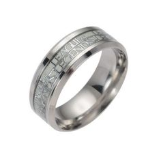 Glow in the Dark Silver League of Legends Titanium steel LOL Silver Ring Band