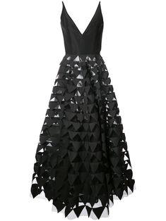 Oscar de la Renta geometric gown