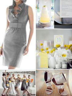 modern wedding inspiration board