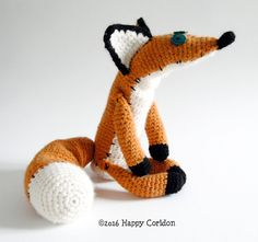 US ENGLISH pdf PATTERN - NOT A FINISHED ITEM!!!  A cute fox amigurumi from The Little Prince movie.  Exact gauge is not essential to this project so you can use your favourite yarn and hook. Ive used an H hook. My fox is 13,40 /34cm tall and 17,70/45cm long from nose to tail.  This pattern contains: -explained instruction -pictures -US crochet terminology -stitches explanation  This pdf pattern is available as an instant download.  When you buy my pattern, I really appreciate if you spend…