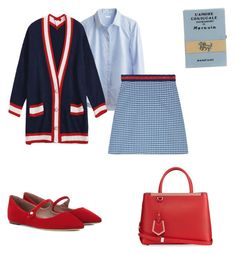"""T"" by miumiudeleeuw on Polyvore featuring Tabitha Simmons, Olympia Le-Tan, Gucci and Fendi"