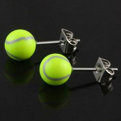 Tennis Ball Stainless Steel Earrings More Tennis Funny, Le Tennis, Tennis Humor, Tennis Party, Tennis Gifts, Tennis Clubs, Tennis Players, Tennis Racket, Tennis Doubles