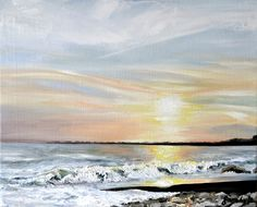 Ogmore at sunset - Oil on canvas by Sam Lyle