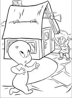 Casper Surprised Coloring Pages - Casper Coloring Pages : KidsDrawing – Free Coloring Pages Online