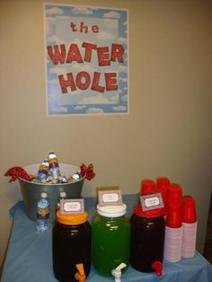 "Instead of ""The Water Hole"" could put ""Woody's Water Hole"""