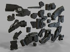 """This collection of re-usable mechanical joints and actuators is perfect for  speeding up the process of conceping hard-surface designs such as robots,  heavy-duty machinery, sci-fi military vehicles, etc.    To seesome examples how these 3d kitbash parts can be used for concept  designclick on """"Black Phoenix Project""""  Format : OBJ, FBX. Faces: 452965, Geometry Type: NonSubd  CLICK on the thumbnails to see larger images."""