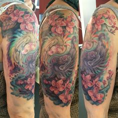 Now it's complete   #spring #tattoo #dragon #cherryblossom #inked #inkedgirl #everydayistattooday #everydayistattootime