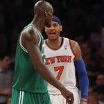 "Celtics battle past Knicks in physical contest (Anthony & Garnett) at the Garden!  Want the latest about this game and more?  Go to D Brown's Hoop Soup at www.dbrownshoopsoup.com.  You ""hoop soupin?"""