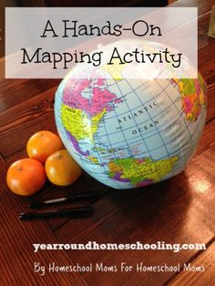 A simple, hands-on mapping activity that can help our children better understand how a round globe can be depicted as a flat map.