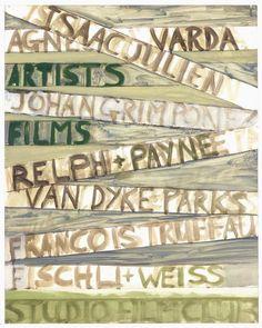 """ARTISTS FILMS""  2003 [Artists Film Night (verschiedene Filme / several films)] Sammlung Rheingold oil on paper 73 x 58 cm / 29 x 23"" PETER DOIG."