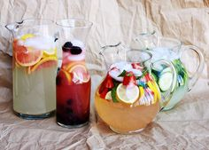 Flavored Lemonade Inspiration - Grapefruit, Strawberry & Basil, Cucumber-Mint, and Blackberry