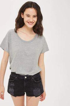 Topshop Moto denim cory low rise shorts