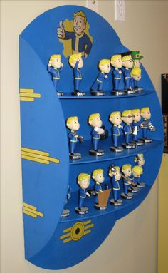 Fallout Bobblehead (non-Vault-Tec approved) DIY Shelf! Fallout Bobblehead (non-Vault-Tec approved) DIY Shelf! Fallout Theme, Fallout Art, Fallout New Vegas, Fallout Quotes, Nerd Room, Gamer Room, Fallout Funny, Geek Cave, Vault Tec