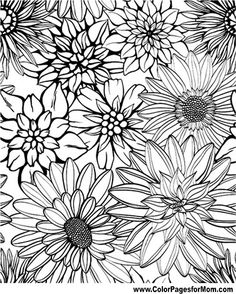 Flower Coloring Page 79 Make your world more colorful with free printable coloring pages from italks. Our free coloring pages for adults and kids. Coloring Pages For Grown Ups, Free Adult Coloring, Printable Adult Coloring Pages, Flower Coloring Pages, Coloring Pages To Print, Mandala Coloring, Coloring For Kids, Coloring Pages For Kids, Coloring Books