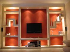C € Drywall Repair Tv Wall Design, Hall Design, House Design, Tv Wall Decor, Ceiling Decor, Ceiling Rose, Wall Art, Living Room Wall Units, Living Room Decor