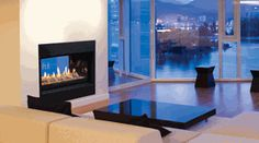 The Monessen Serenade See-Thru Wide View Direct Vent Gas Fireplace adds style and warmth to two rooms at once.  www.elitedeals.com $4479.30