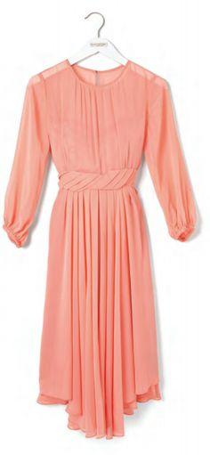 Eva Mendes Collection- Chiffon Pleat Dress