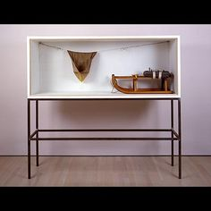 Joseph Beuys - Vitrine, 1983. Juxtaposition and resonant form/materiality.