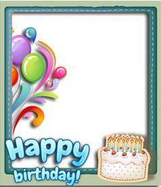 #Postal de #felicitación de #cumpleaños personalizable con una foto. Montaje que añade un marco y un happy #birthday en azul. Decora una fotografía digital o desea un feliz cumpleaños con esta #tarjeta ya sea por correo electrónico o imprimida. www.fotoefectos.com Birthday Party Clipart, Birthday Charts, Birthday Balloons, Happy Birthday Cards, Birthday Frames, Birthday Wishes Quotes, Party Cakes, Diy And Crafts, Projects To Try
