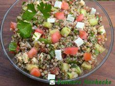 Buchweizen-Salat mit Gurke, Tomate und Feta - #Rezept