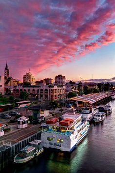 Valdivia city swathed in red cloud at sundown. This was one of the best sunsets I've seen here - I just wish i had a wider lens to really capture it! Places Around The World, Travel Around The World, Around The Worlds, Patagonia, Places To Travel, Places To See, Equador, Best Sunset, South America Travel