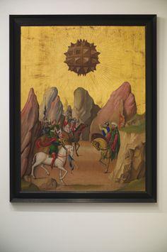 """Laurent Grasso  """"Studies in to the past"""", 2013  Huile sur panneau de chêne encadré"""