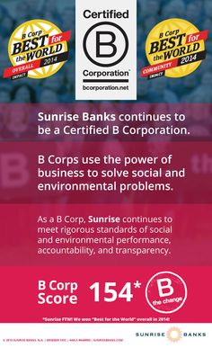 As the first certified B Corp in Minnesota, Sunrise strives to use business as a force for good to solve social and environmental problems. All B Corps must meet rigorous standards of social and environmental performance, accountability, and transparency. Csr Report, Corporate Social Responsibility, Strong Relationship, Accounting, Sunrise, Environment, Marketing, Learning, World